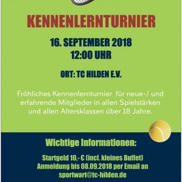 Kennenlernturnier am 16.09.18